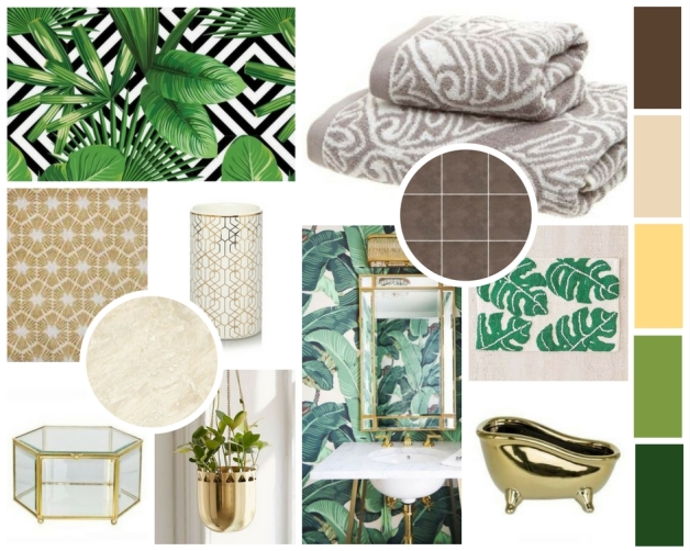 Botanical Bath Mood Board 3