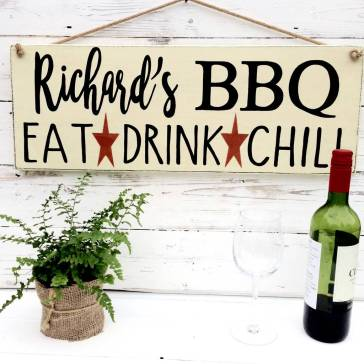 Personalised BBQ Bar Sign