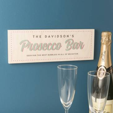 Personalised Prosecco Bar Sign