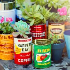 Upcycled Tin Can Planters