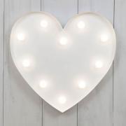 LED White Heart Light
