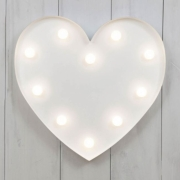 LED White Heart Light