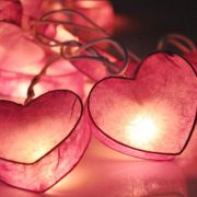 Pink Heart String Lights