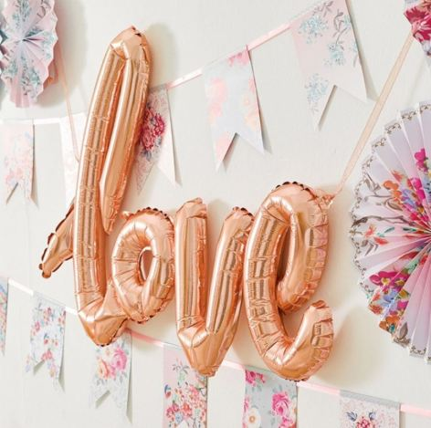 Rose Gold Foil 'Love' Balloon