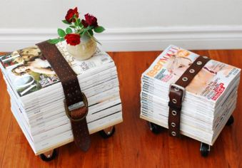 Magazine Stool DIY