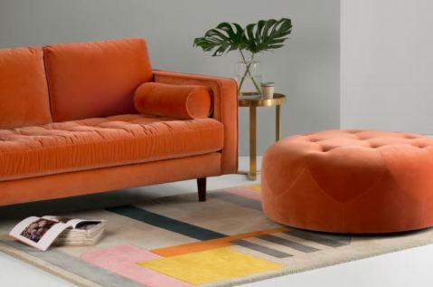 Peach Footstool