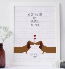 Sausage Dog Print