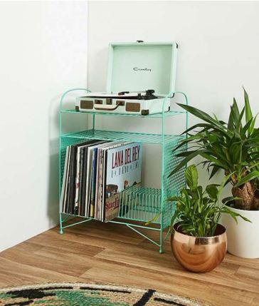 Retro Teal Vinyl Stand