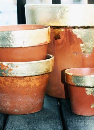 gold leaf pots
