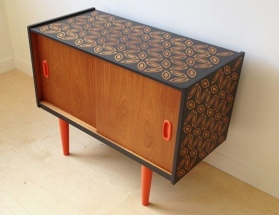 Stencilled Sideboard
