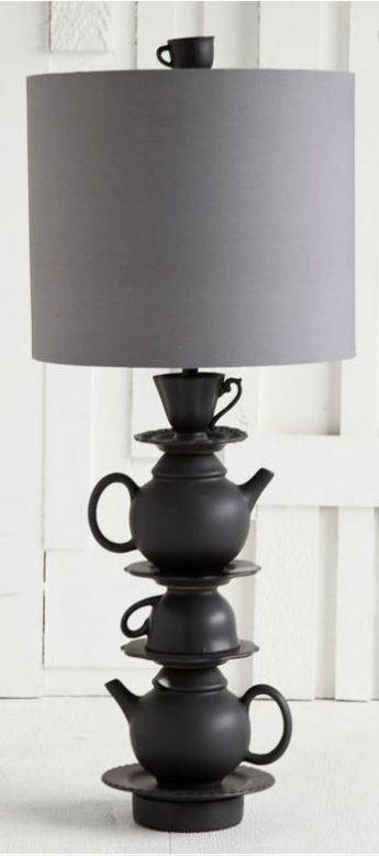 Black Tea-Set Lamp