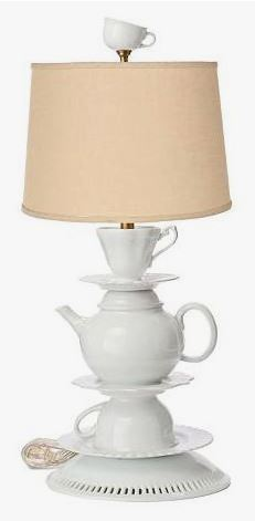 White Tea-set Lamp