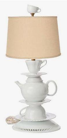 White Tea-set Lamp