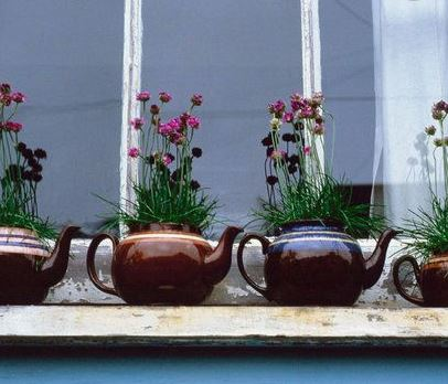 Teapot Windowsill Planters