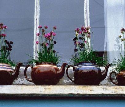 Teapot Windowsill Planters