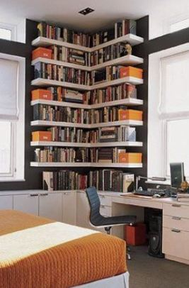 Corner Book Shelf