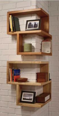 Corner Wooden Book Shelf