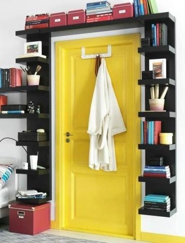 Book Shelves Around a Doorway