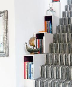 Bookcase Alongside Stairway