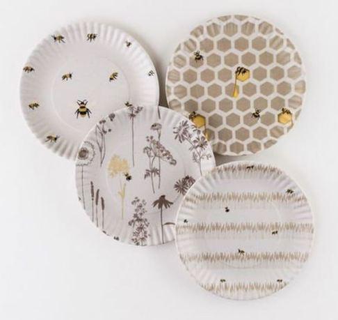 Bee Melamine Plates
