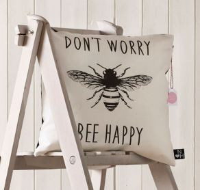 Don't Worry Bee Happy Cushion