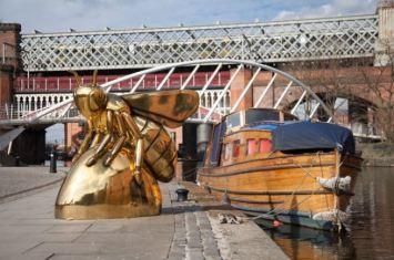 Gold Bee Sculpture