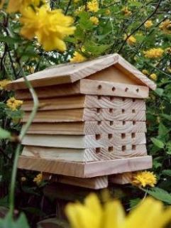 Wooden Bee House